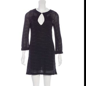 M MISSONI METALLIC MINI DRESS